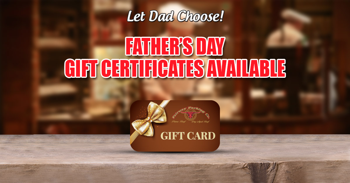Fairway Packing Father's Day Gift Certificates