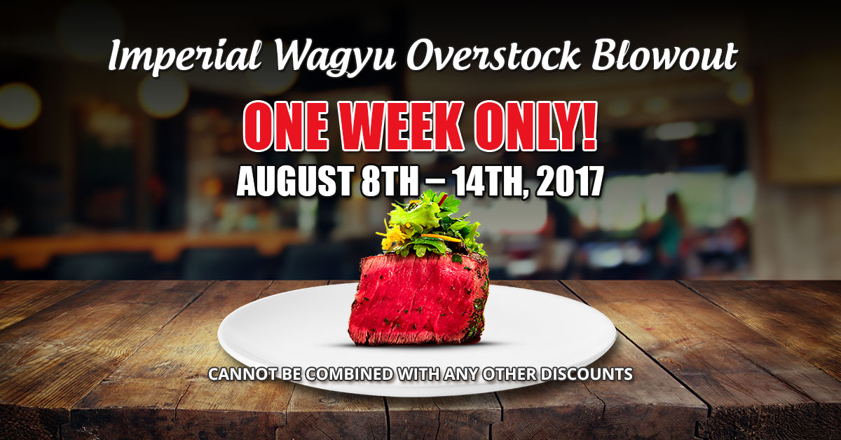 Fairway Packing Imperial Wagyu Overstock Blowout